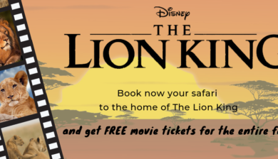 Get free movie tickets to The Lion King with your family safari to Tanzania